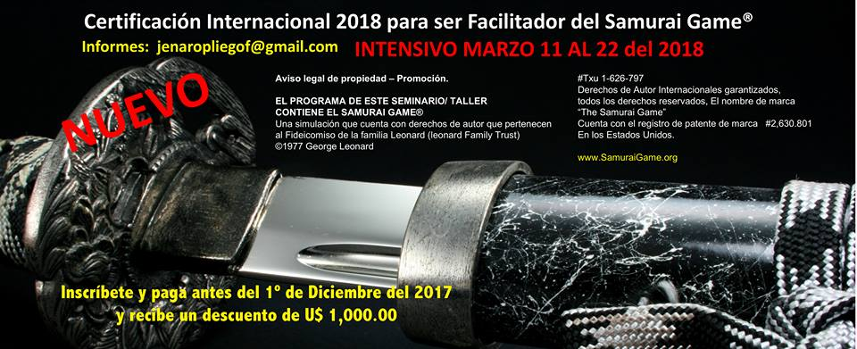 2018 Facilitator Training & Certification