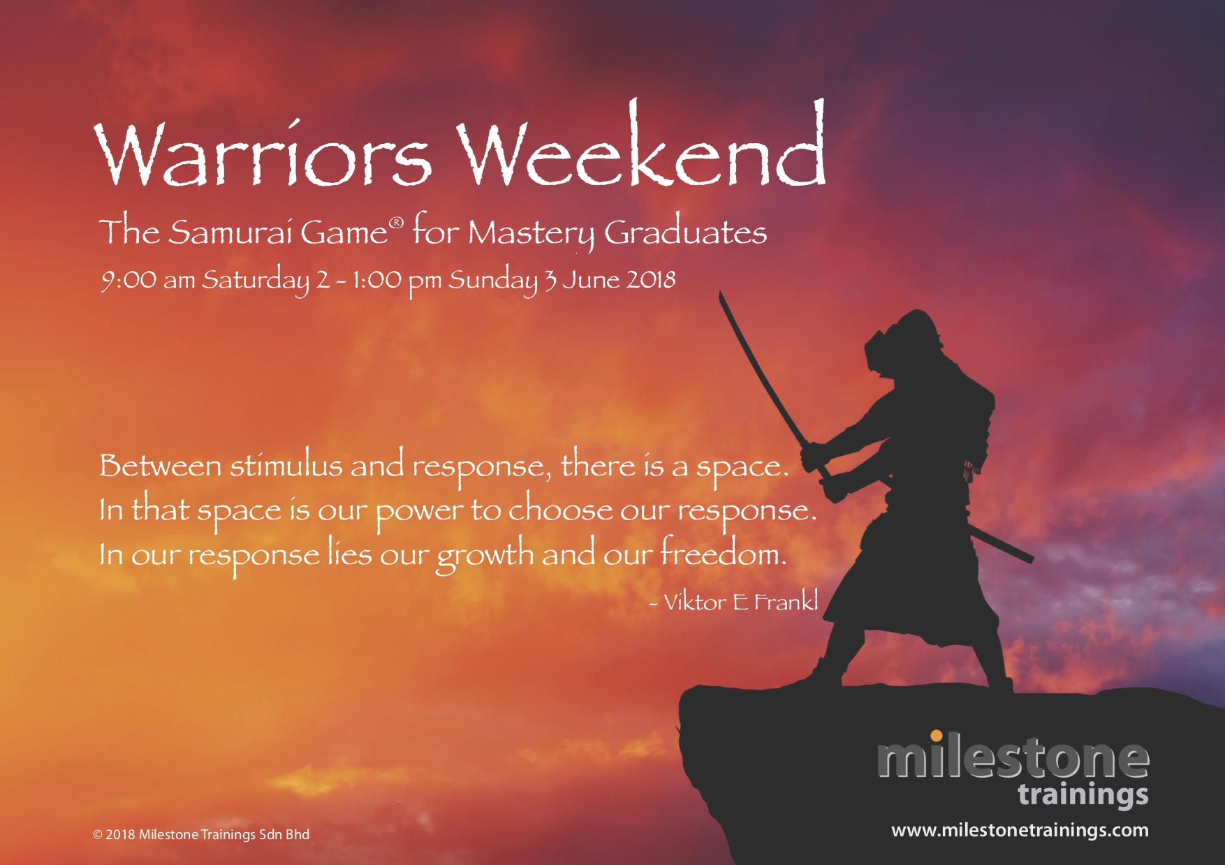 Warriors Weekend -- The Samurai Game for Mastery Graduates