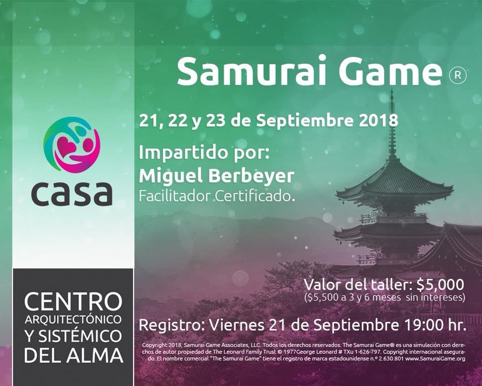The Samurai Game® en CASA by Miguel Berbeyer
