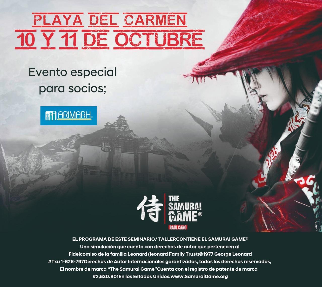 Samurai Game®️ARIMARH, Playa del Carmen
